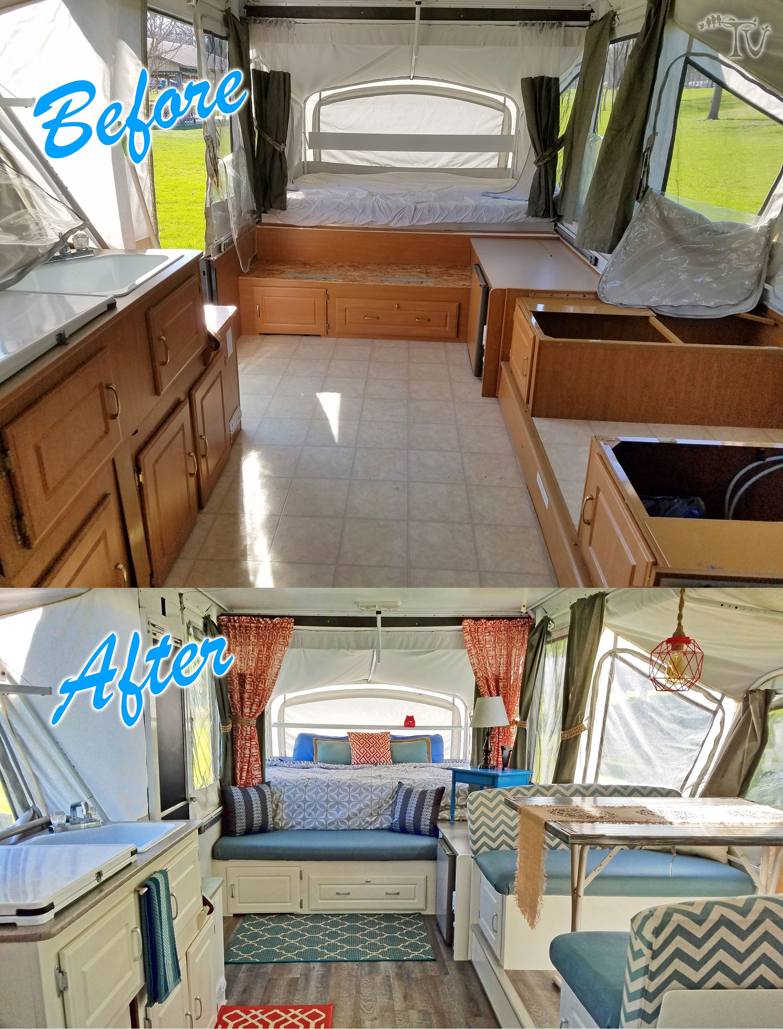 BEFORE/AFTER - This is my Pop up renovation on a 2003 ...