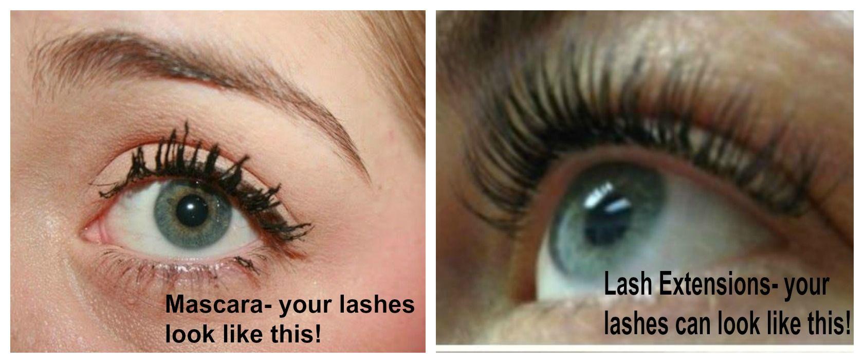 Mascara vs. Lash Extensions! GET LASH EXTENSIONS, no