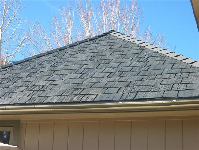 Synthetic shake roofing tiles...intricate texture that appears truly natural.