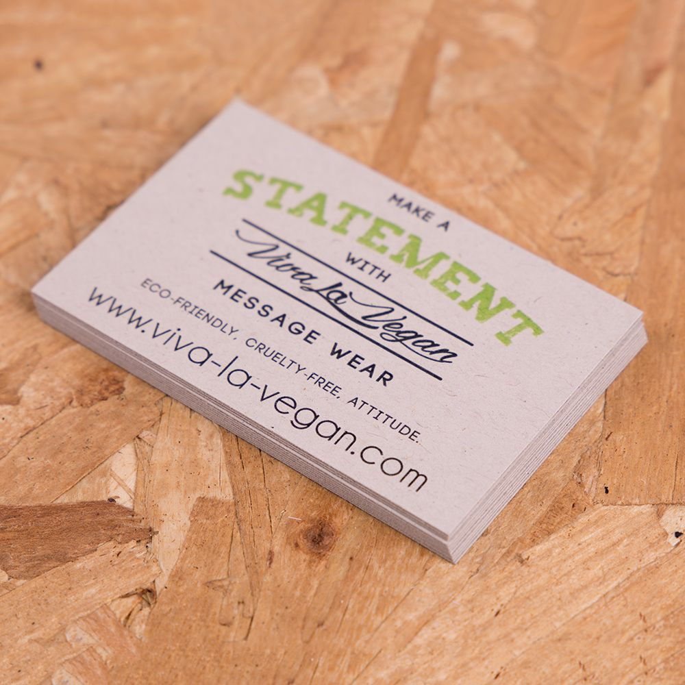 Recycled business cards for www.viva-la-vegan.com - promote your ...