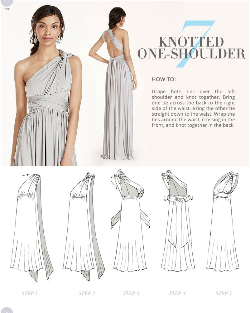 a182f0c08db0 Versa Convertible Infinity Bridesmaid Dress In Lustrous Jersey Tutorial