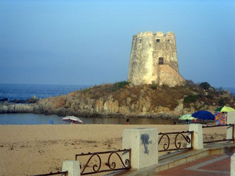 Italian Beaches Of Sardinia  The location takes its name after the Medieval Tower built in the late 16th Century.
