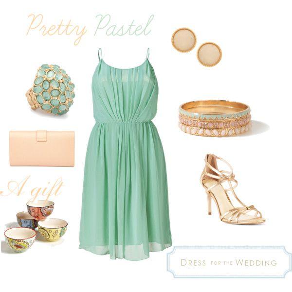 Green dress for a wedding guest best pretty pastel ideas for Pastel dresses for wedding guests