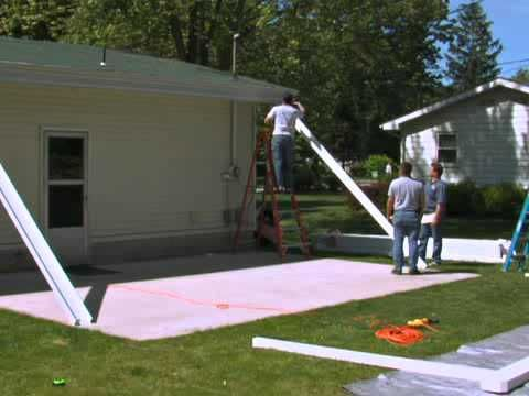 Lowe S Americana Building Products Teton Patio Cover Part 1 Covered Patio Patio Installation