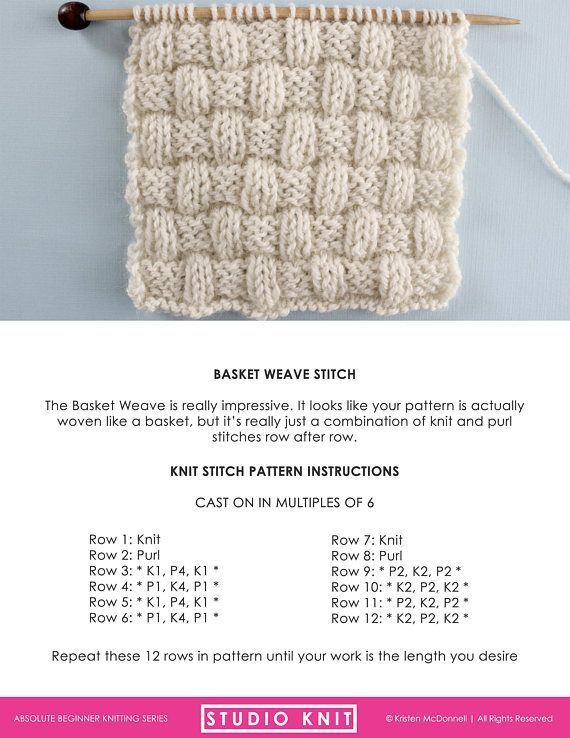 Knit Stitch Pattern Book for Absolute Beginning Knitters - PDF ...