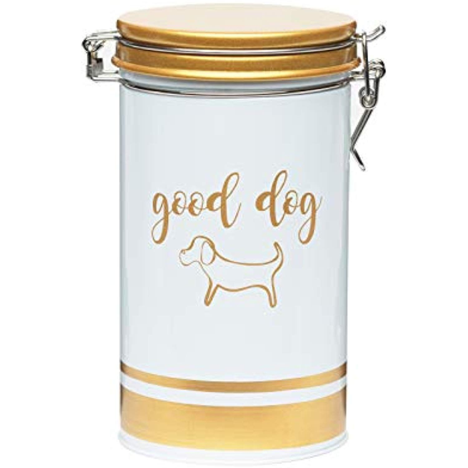 Amici pet furbaby dog canister decorative painted metal