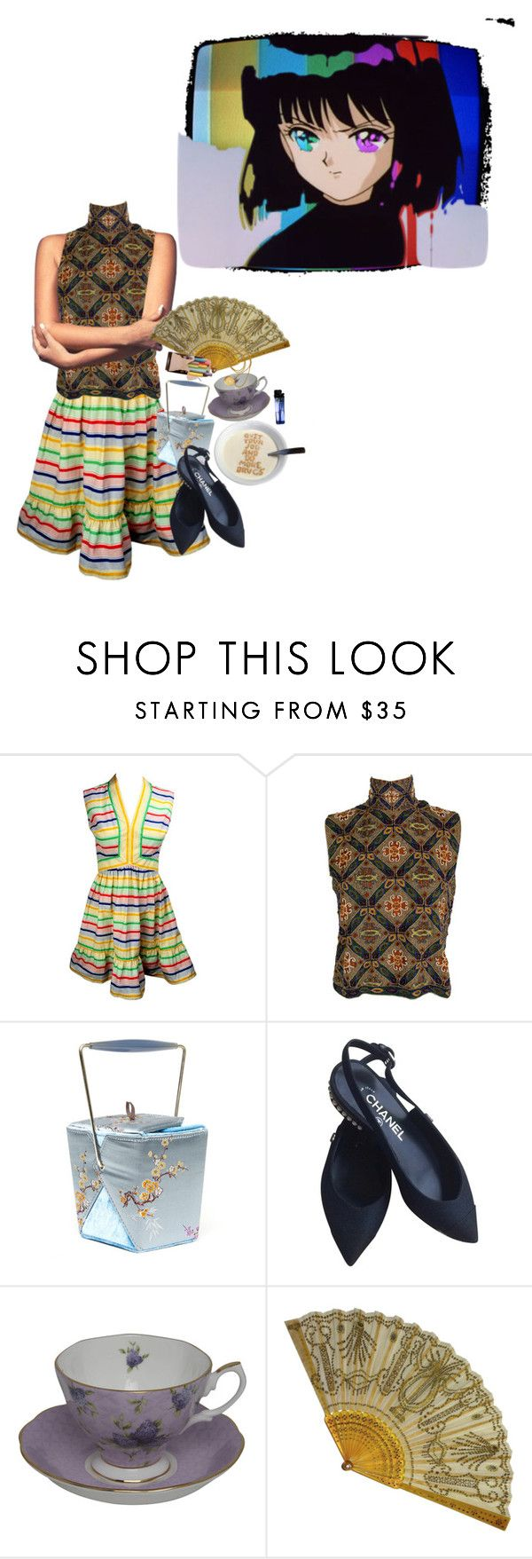 """""""pharaoh's daughter"""" by sailordarling ❤ liked on Polyvore featuring Laura Biagiotti, Chanel and Royal Albert"""
