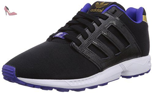 ZX Flux, Sneakers Basses Femme, Noir (Core Black/Core Black/Footwear White), 43 1/3 EUadidas