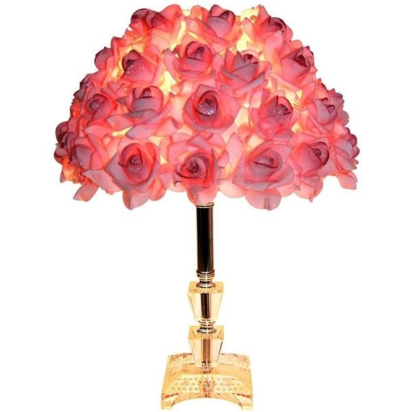 Leway\'s Modern Table Lamp with Rose Shade for Living Room,Bedside ...