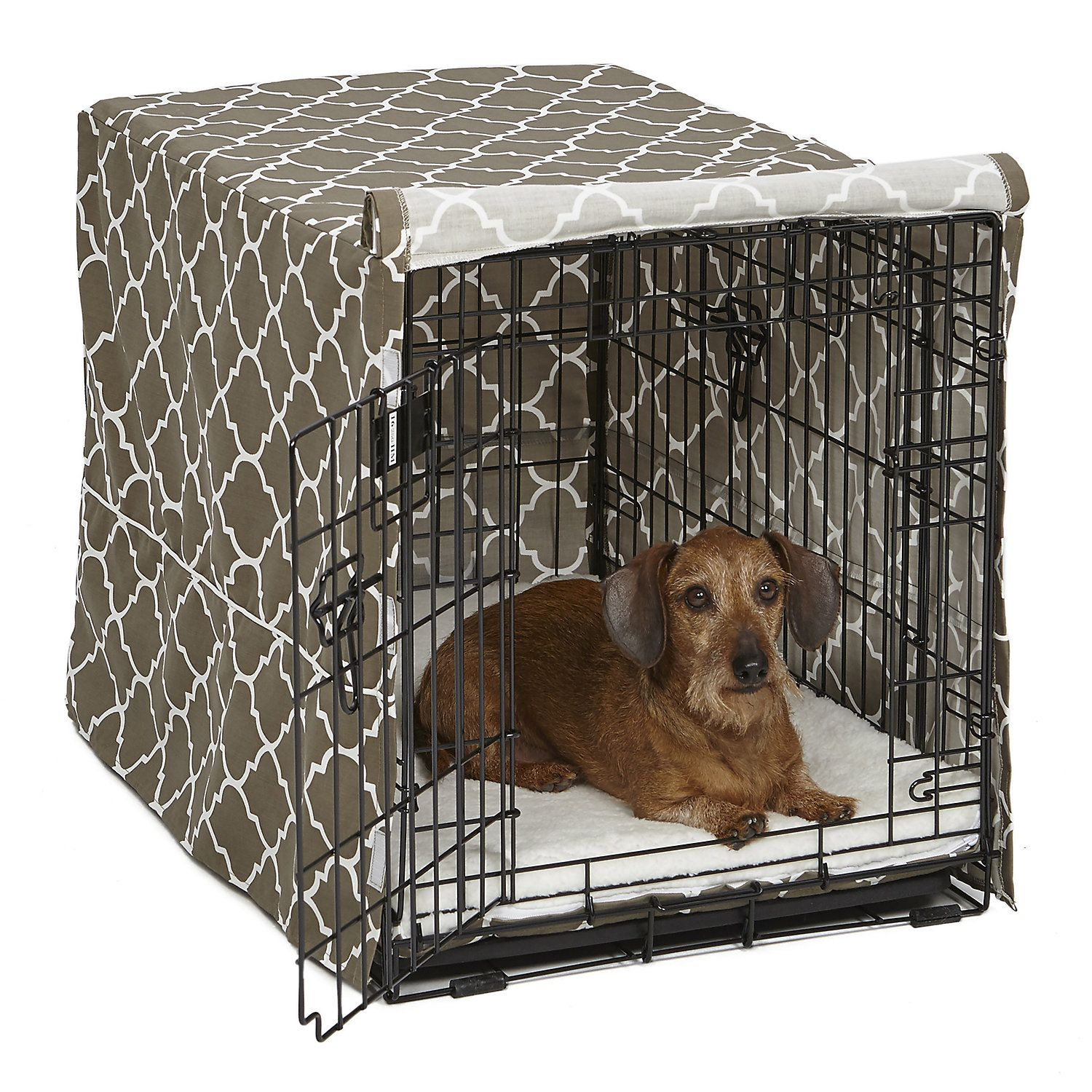 Midwest Quiet Time Defender Brown Crate Cover For Dogs 30 L