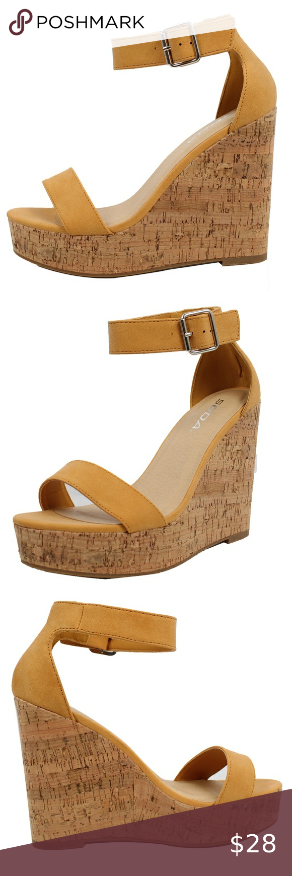 JUSTICE ESPADRILLES BRAIDED WEDGE SIZE SANDALS  SUPER CUTE!! 1,5,7