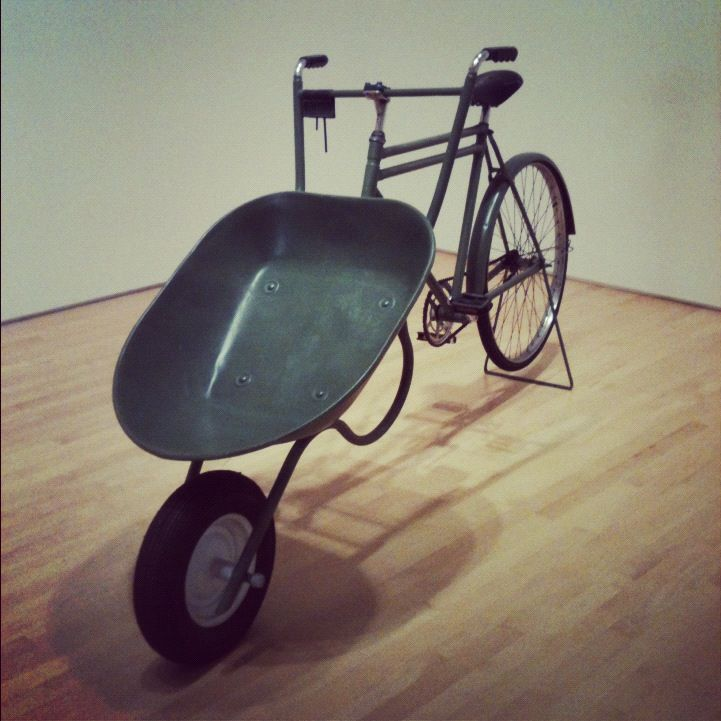 carretilla en bicicleta