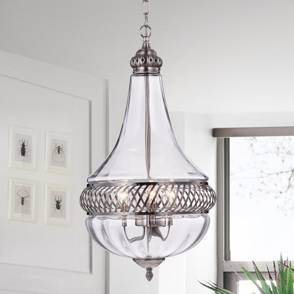 Permin empire 13 inch clear glass and metal pendant light overstock online shopping bedding furniture electronics jewelry clothing more metal pendant lightspendant aloadofball Gallery