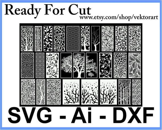 23 Pattern Panel Templates DXF DWG AI File Laser Cut Cnc Dijital