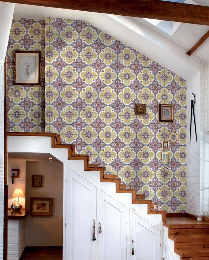 Hallway and stairs wallpaper  Mandala  Room and Wallpaper