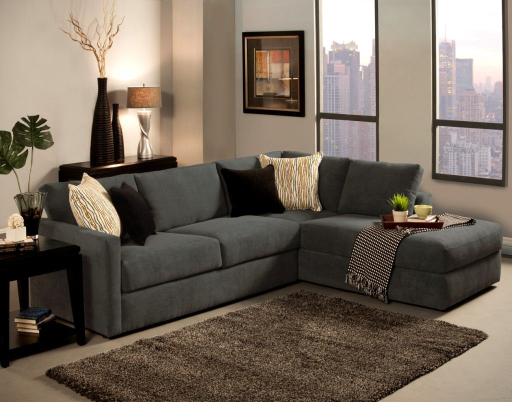 Grey L Shaped Sofa Chaise Lounge Complete Beige And Black Cushion Inspiration Living Room For