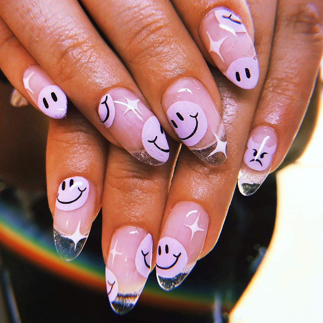 Nailswag On Instagram Because I M Happy By Victoriaon10 Using Apresnailofficial And Riccagel Nailpartner In Shad Swag Nails Instagram Nails 90s Nails