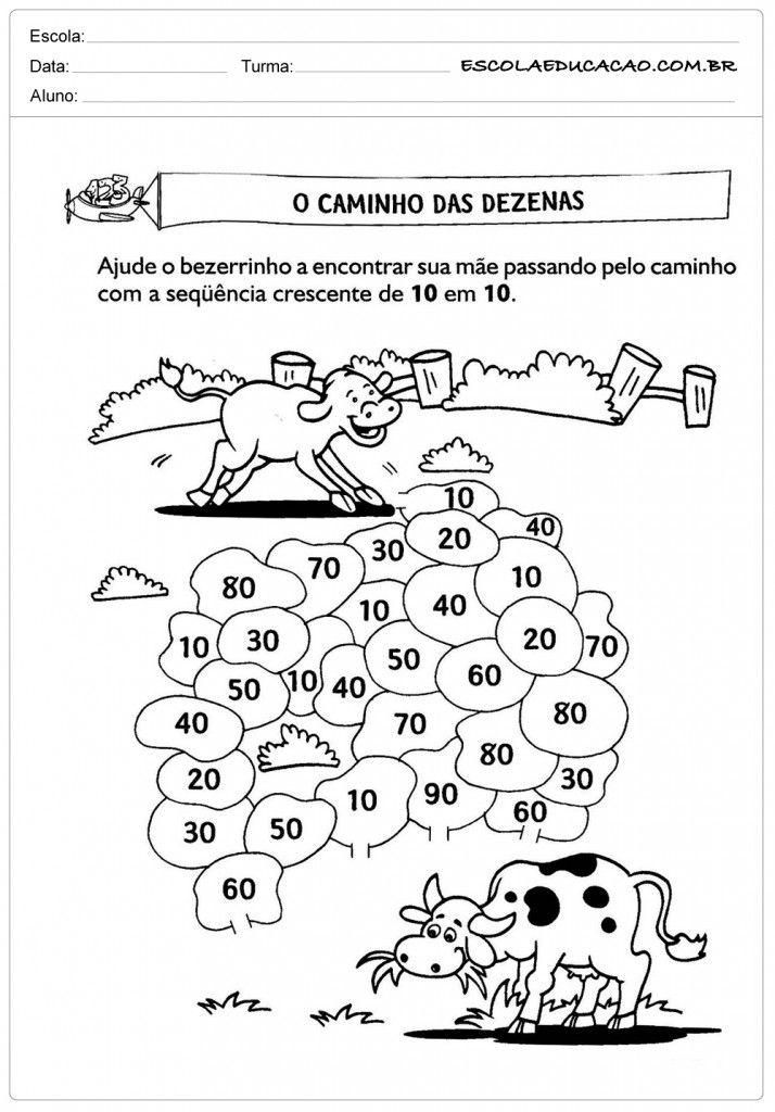 Famosos Atividades de Matemática 2º ano - Dezenas | atividades matematicas  WS71