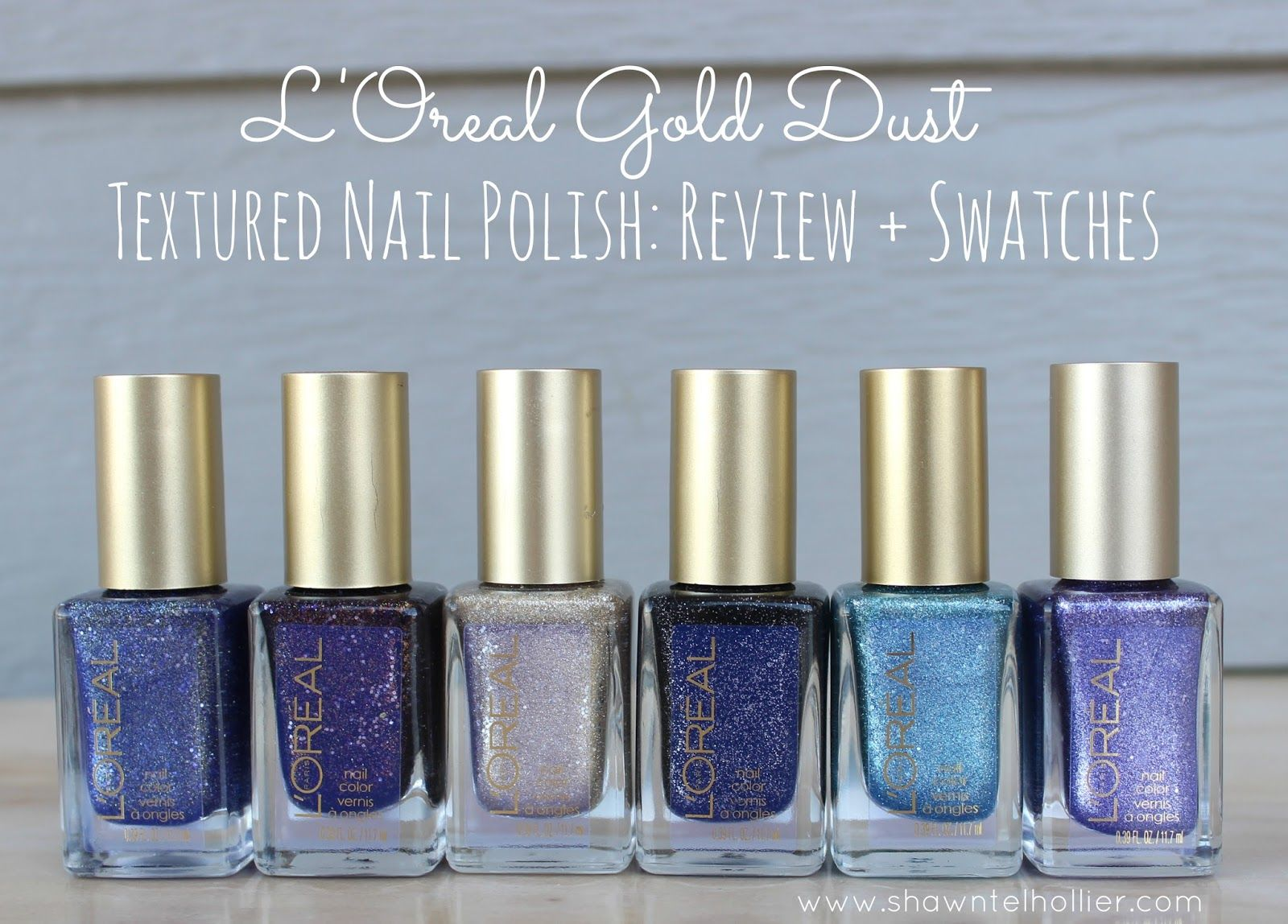 L\'Oreal Gold Dust Textured Nail Polish: Review and Swatches #Loreal ...