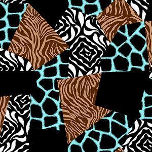 "Creative Cuts Fleece 60"" wide, 1.5 yard cut fabric, Animal Prints"