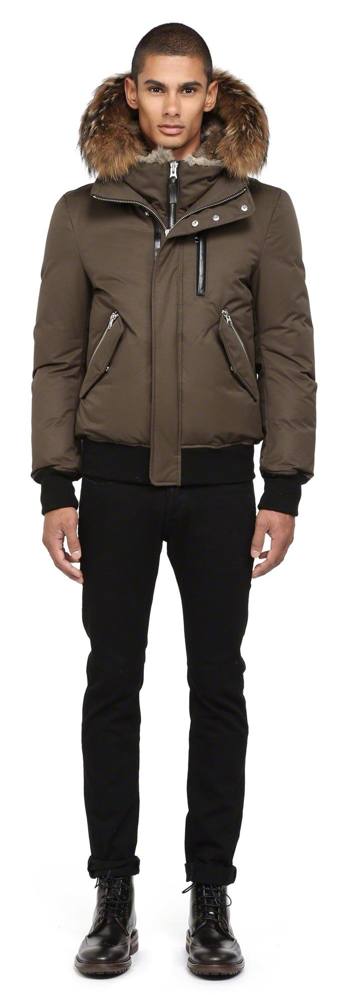 Mackage DIXONF4 ARMY WINTER DOWN BOMBER JACKET FOR MEN