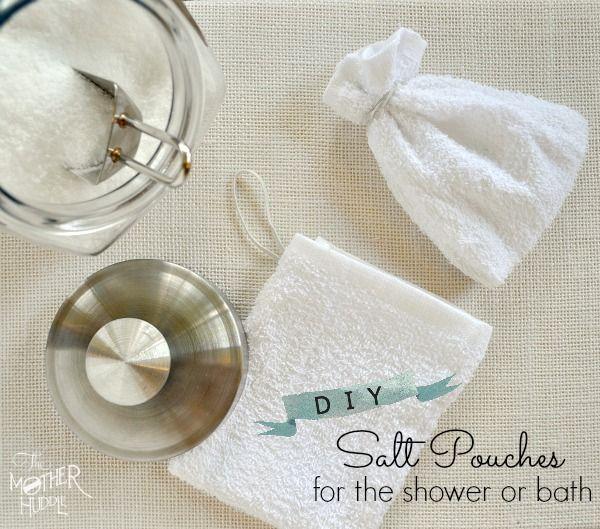 Diy Reusable Bath Salt Pouches For The Shower Or Bath