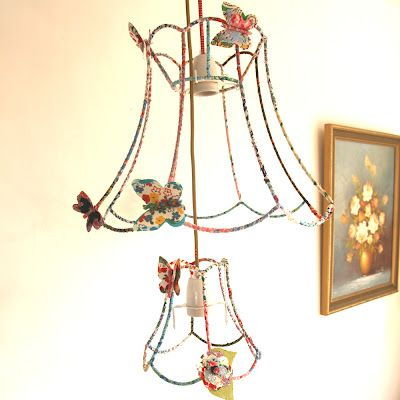 fabric-wrapped lampshade frames | Lamps & Lighting | Pinterest ...
