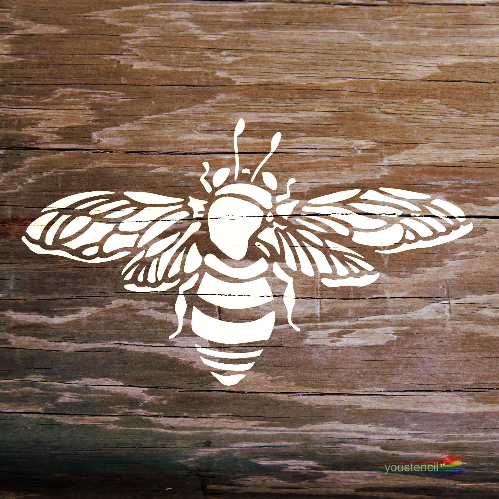 Bumble bee stencil for walls furniture and art st2 etsy