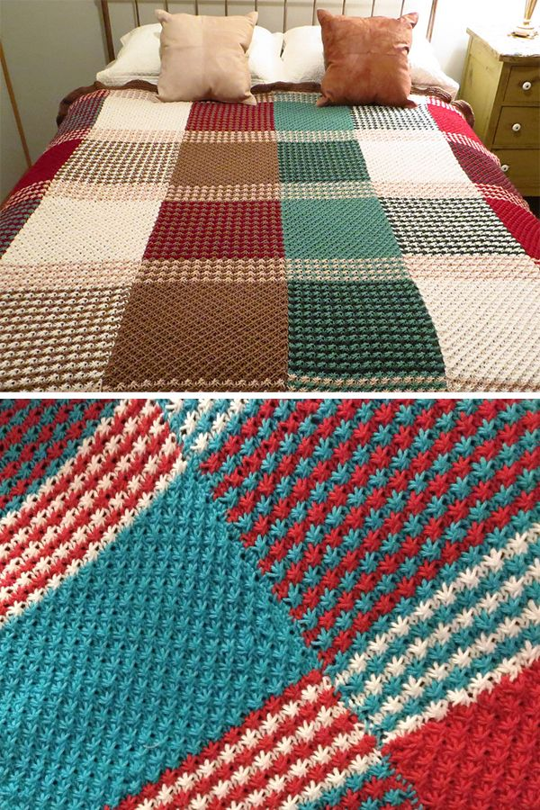 Free Knitting Pattern for Star Stitch Afghan - Blanket knit with ...