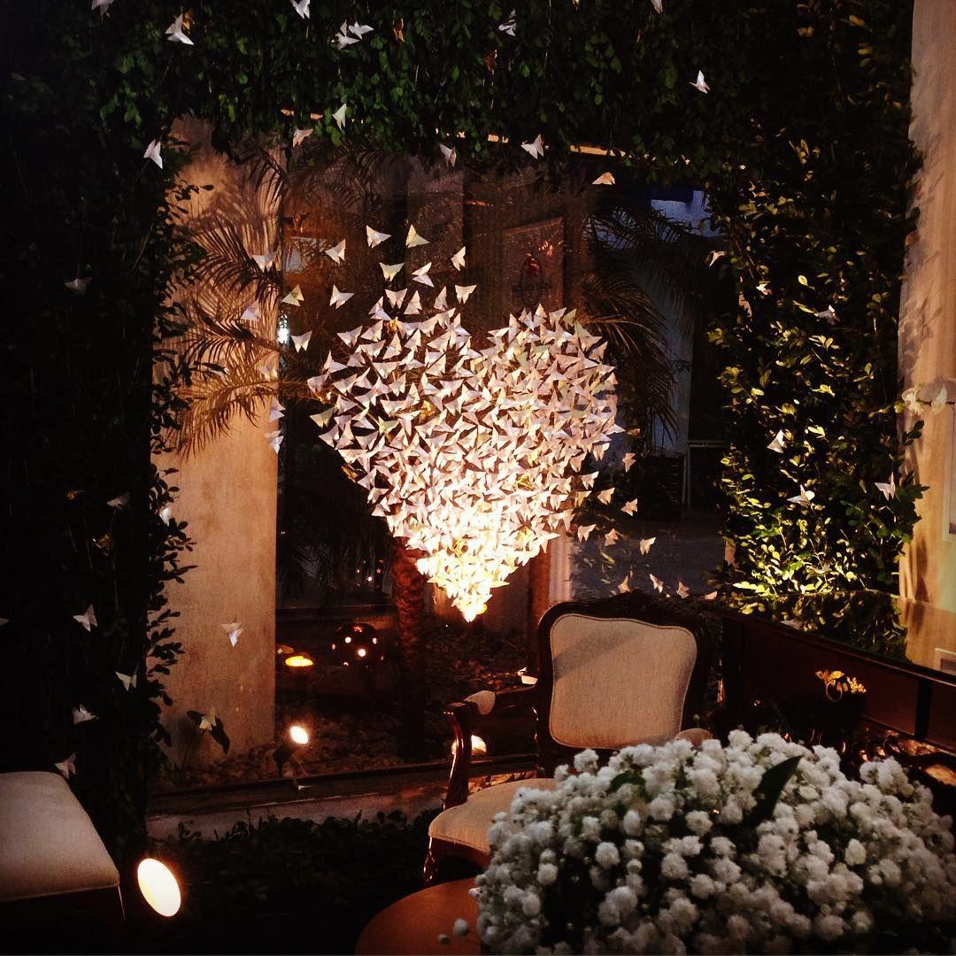 Noite de abertura do Noiva's Fair. O amor está no ar... ❤️ #origami #thaiskato #londrina #noivasfair #craft #creative #criatividade #decoracao #decoration