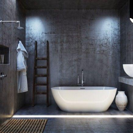 Minimalistische 3d badkamer ontwerpen - Badkamer inrichting ...