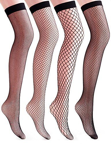 0a5e1e7e559cdc Leg Avenue Women's Spandex Industrial Net Stockings With Unfinished Top,  Black, One Size. I need about 100 pairs of these every year for Yuletide  until I'm ...
