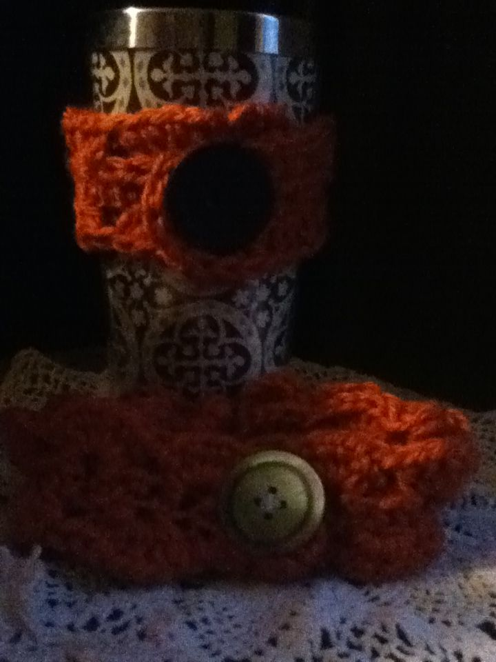 Cup cozy and matching headband