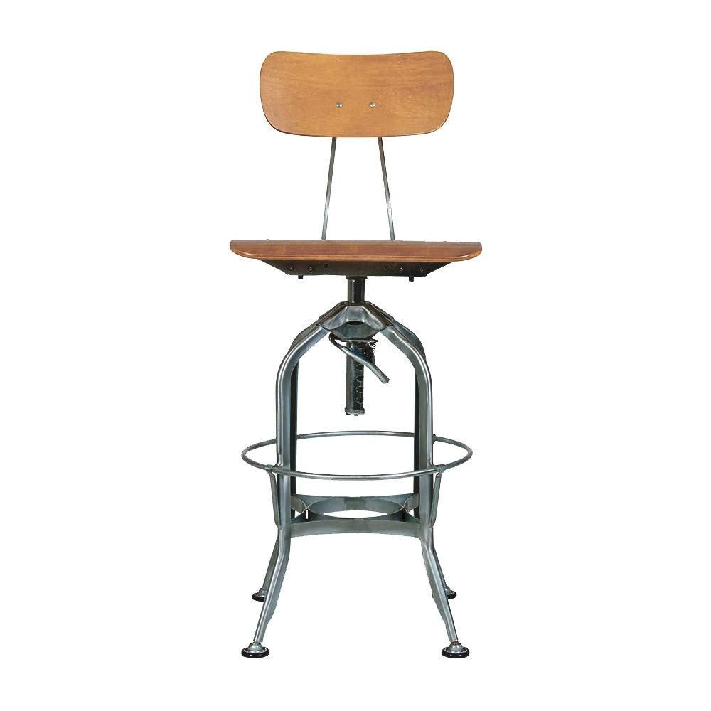 Prime Toledo Natural Dark Gunmetal Adjustable High Back Bar Uwap Interior Chair Design Uwaporg