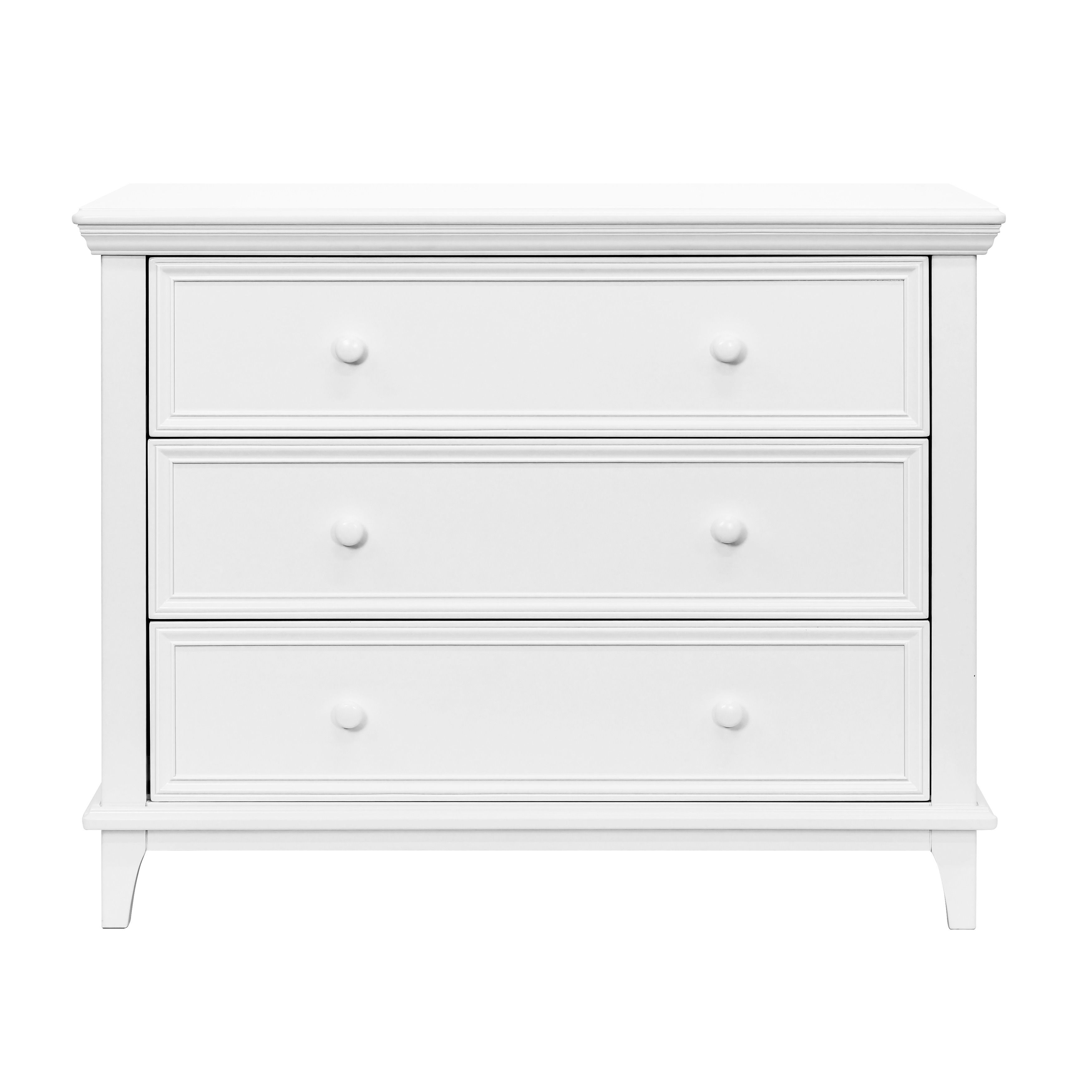This sturdy dresser is the perfect height to accomodate a contour