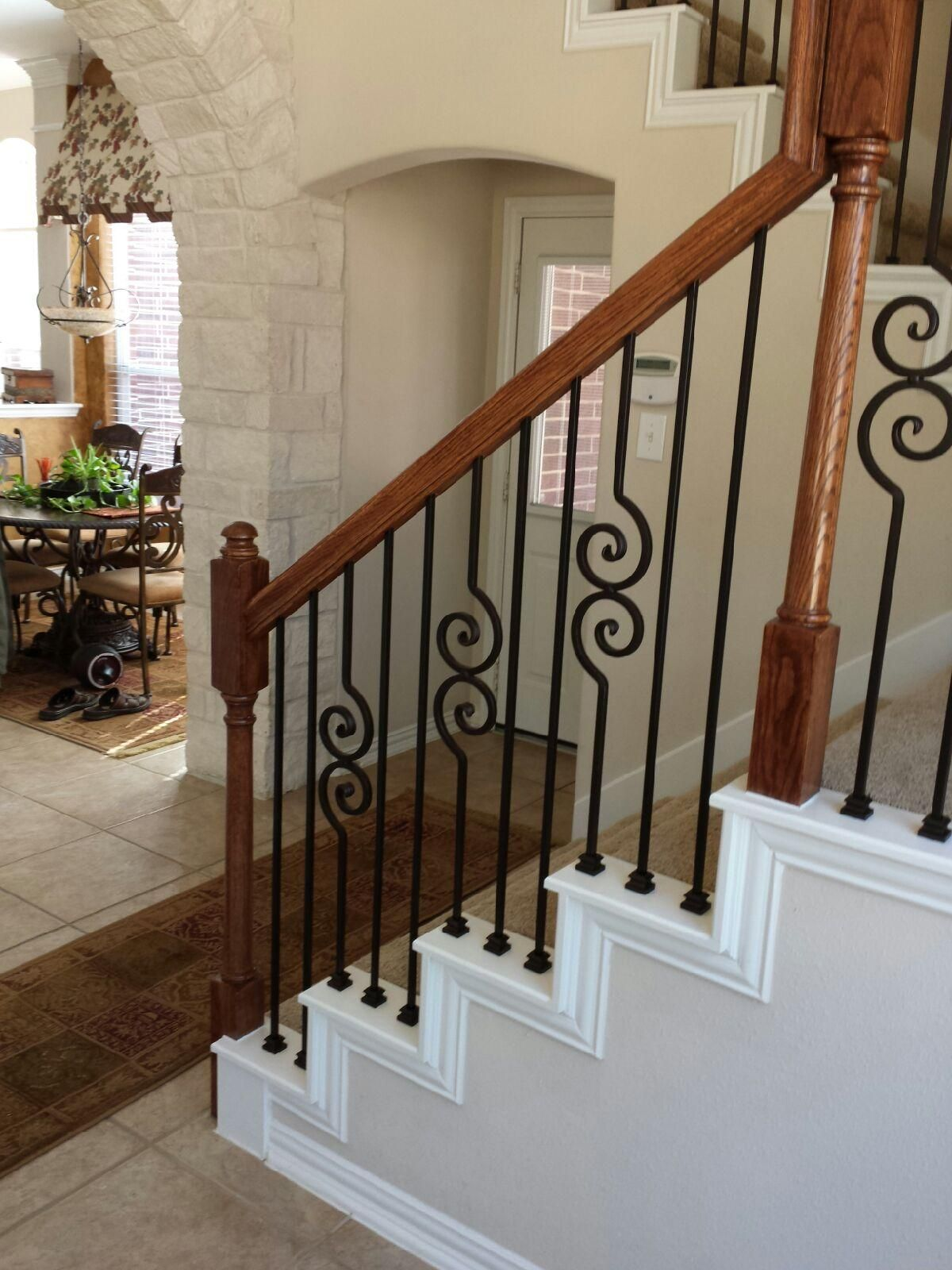 The Ingram Residence Iron Stair Railing Stair Railing Design Stair Railing