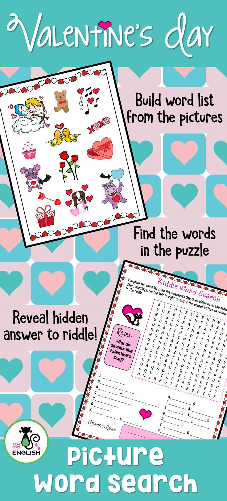 Valentine\'s Day Multiplication and Division Scavenger Hunt ...