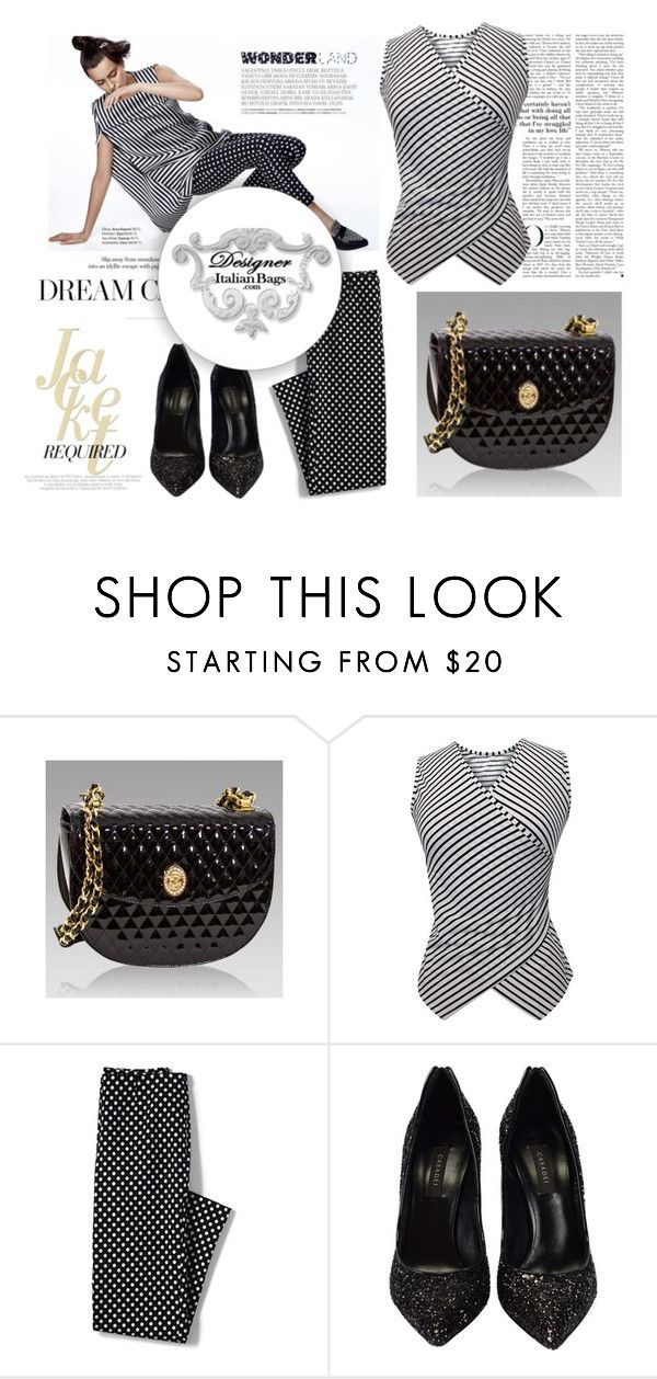"""SHOP - DESIGNER ITALIAN BAGS"" by designeritalianbags ❤ liked on Polyvore featuring Chanel, Lands' End and Casadei"