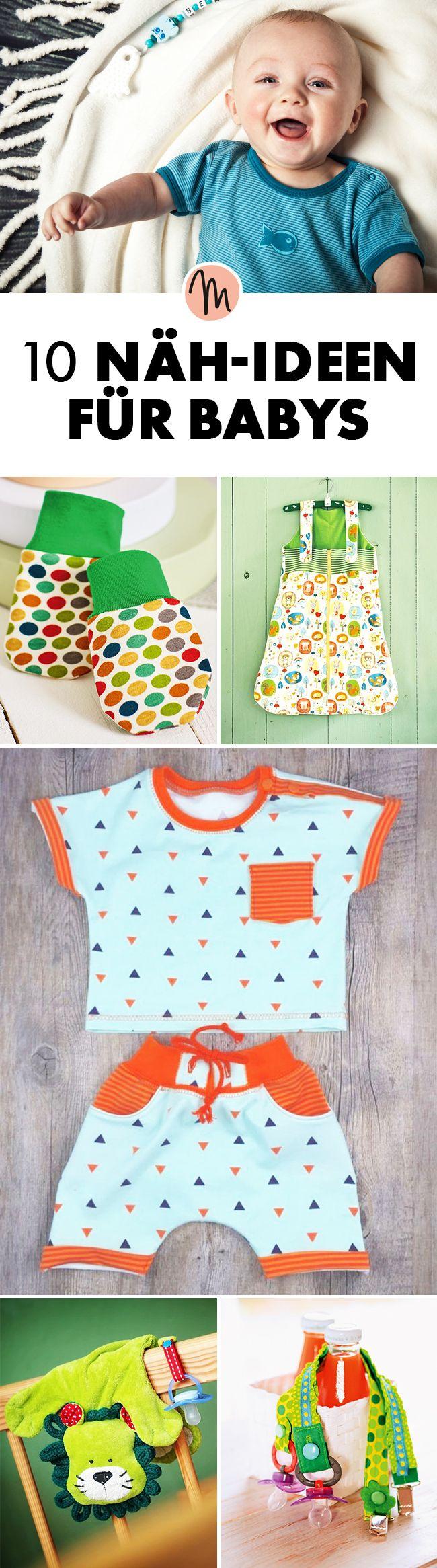 10 Näh-Ideen für Babys - Nähanleitungen und Material via Makerist.de #tutorielsdecouture