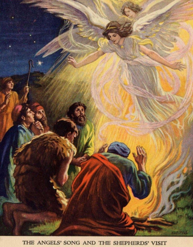 The Angels Song and The Shepherds Visit. The Shepherds and the Angels. And suddenly there was with the angel a multitude of the heavenly host praising God and saying, Glory to God in the high...2