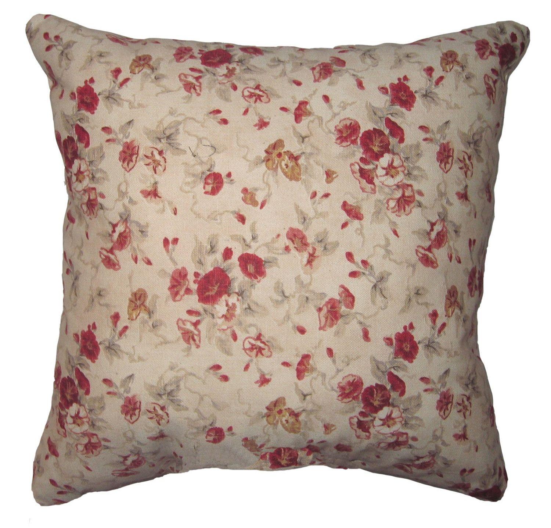 Floral Throw Pillow Waverly Vintage Fairhaven Rose