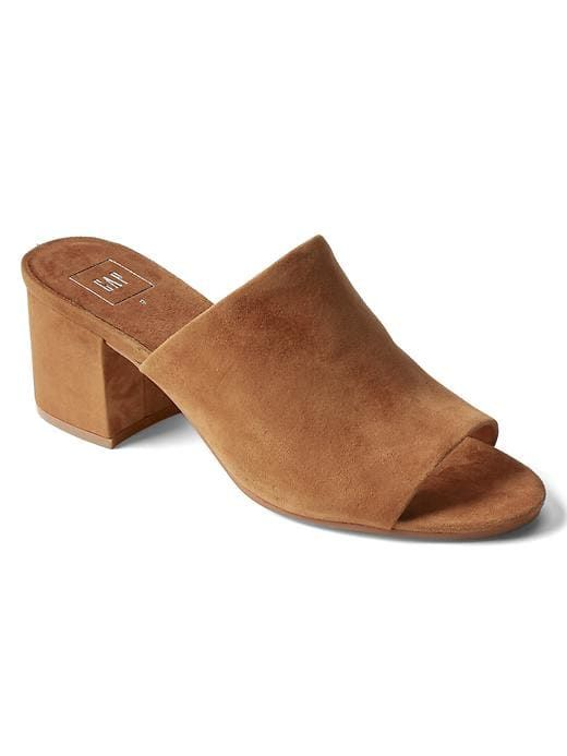 bef31ef2a1f Gap Womens Open-Toe Suede Mules Chestnut Size 9