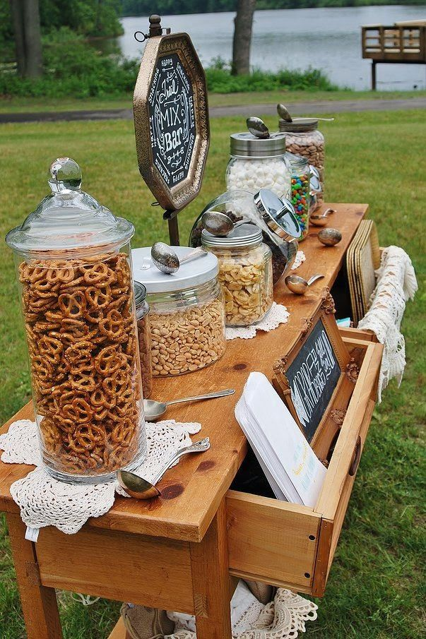 Like The Idea Of Putting Out This Type Snack For Between Wedding And Reception With Drinks
