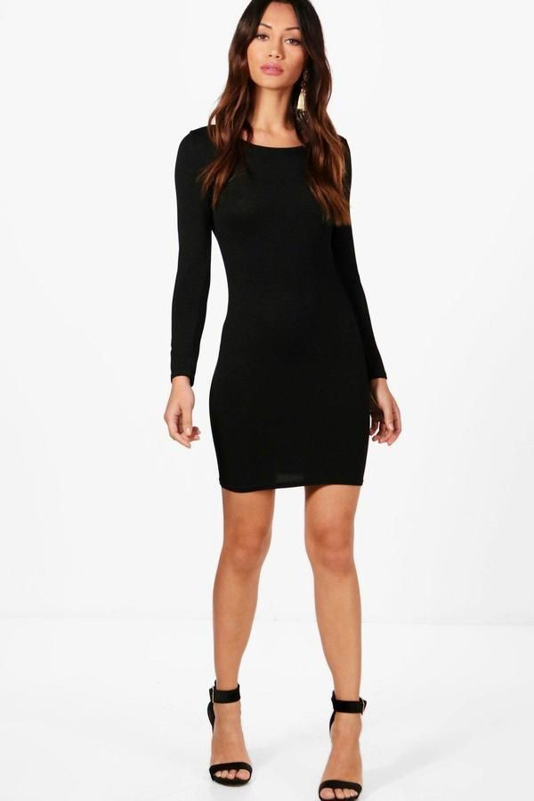 33d59f62cced boohoo Petite Natasha Long Sleeve Bodycon Dress | Products | Petite ...