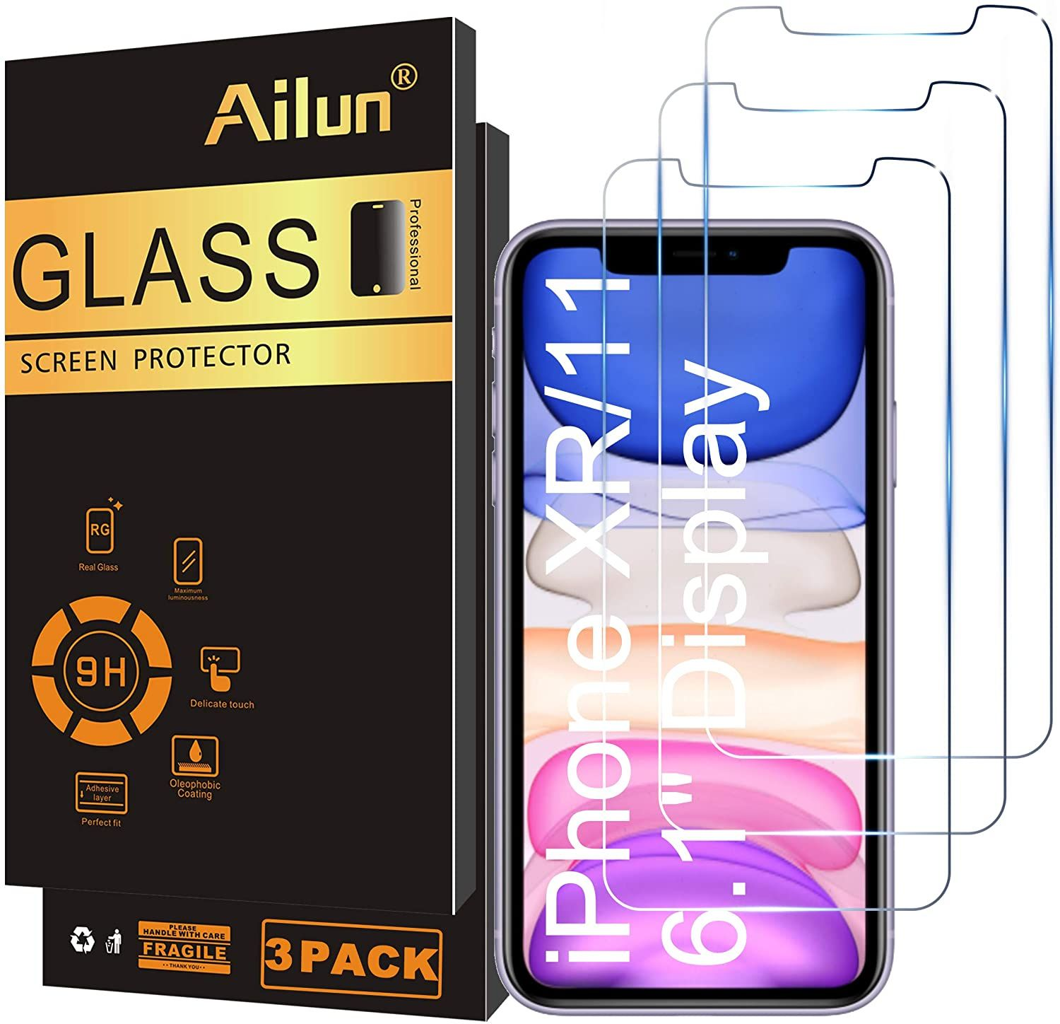 Ailun glass screen protector for iphone 11iphone xr 61