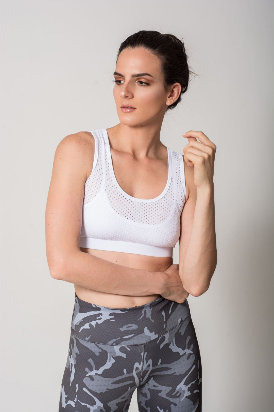 71bb3f9e9d33f2 The PAULINA is a racer back sports bra with special mesh details on the  front and back. Fabric  78% Nylon   22% Elastan