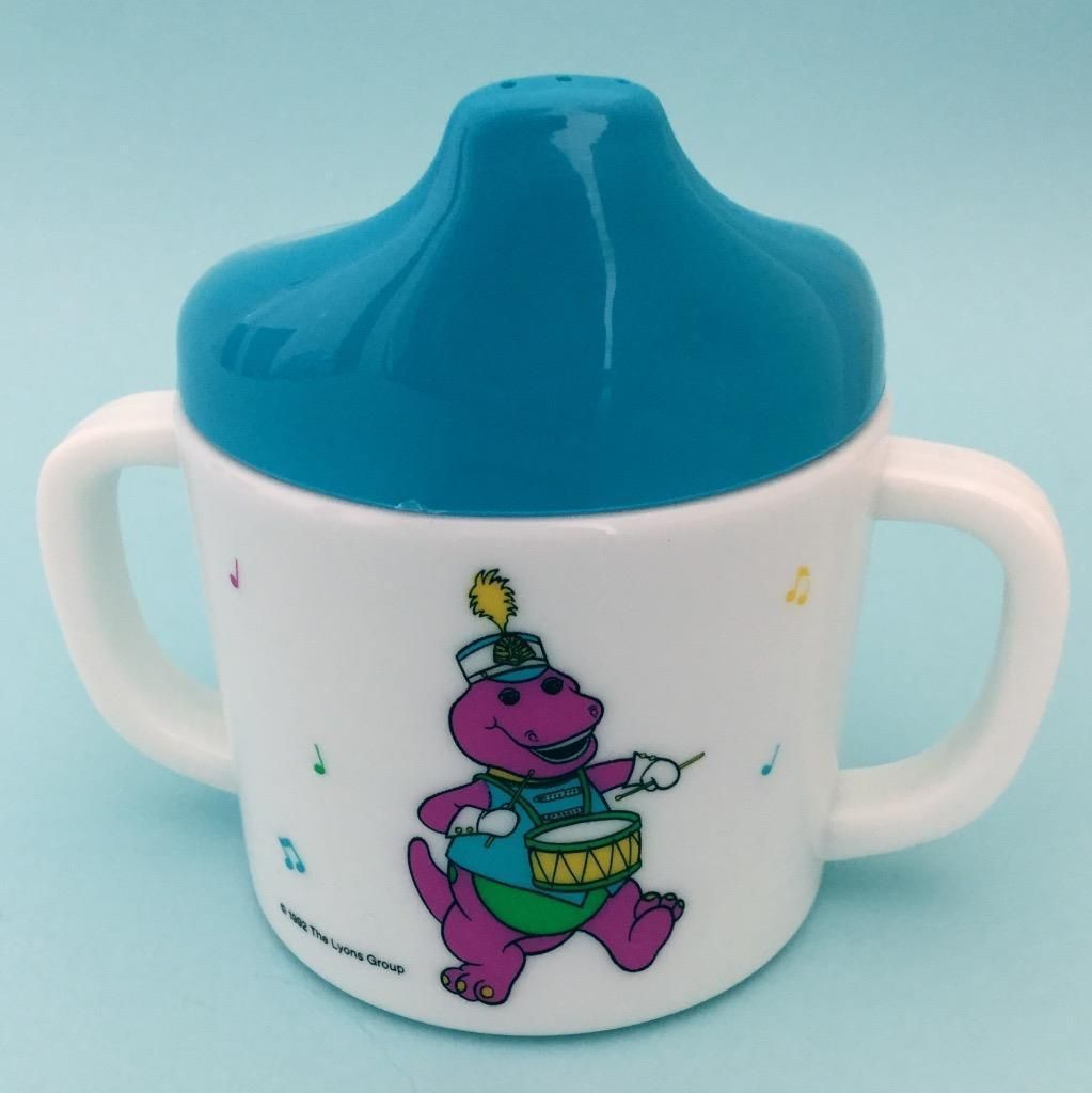 barney the purple dinosaur sippy cup new condition vintage 1992