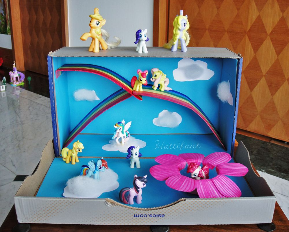 Decorating A Shoe Box My Little Pony Magical World Out Of A Shoe Box  Hattifant  Fun
