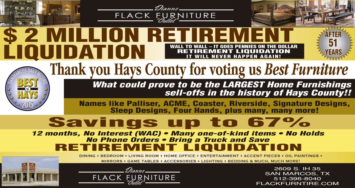 2 MILLION RETIREMENT LIQUIDATION  WALL TO WALL | Dianne Flack Furniture  Outlet   San