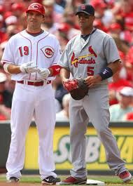 Joey Votto and Albert Pujols, #2 and #1 MLB first basemen, respectively